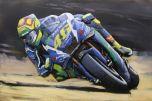 3D Art metaalschilderij Racemotor