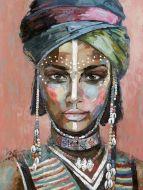 Olieverf schilderij Afrikaanse vrouw van Ter Halle