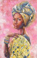 Olieverfschilderij Afrikaanse vrouw | 542