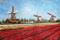 3D Art Metaalschilderij Bloemenvelden