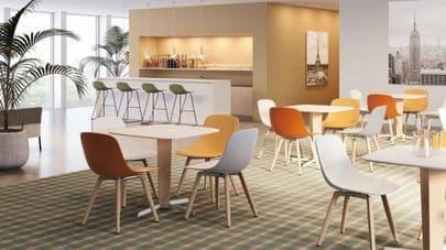 Moderne Eetkamerstoelen fauteuils van Infinity italiaans design
